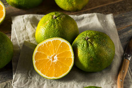 Raw Green Organic Ugli Fruit Ready to Eat