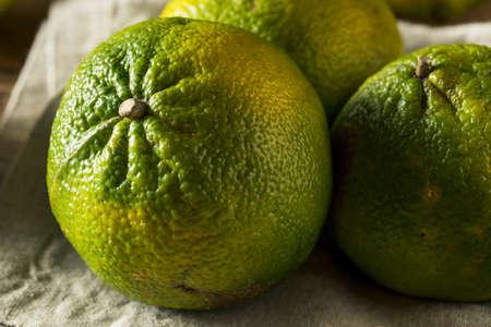 Raw Green Organic Ugli Fruit Ready to Eat