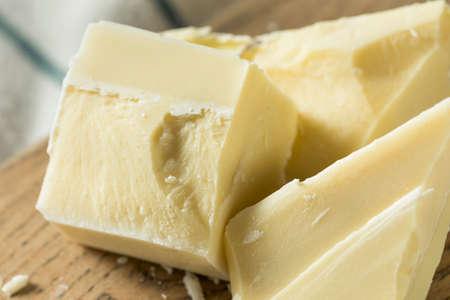 Sweet Organic White Chocolate Chunks Cut into Pieces Stock Photo