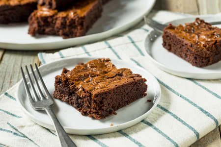 Double Dark Chocolate Brownies Ready to Eat