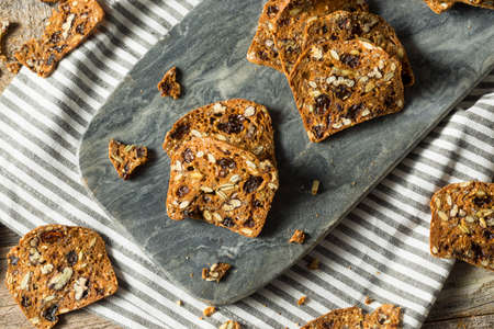 Homemade Pecan and Cranberry Crackers with Seeds