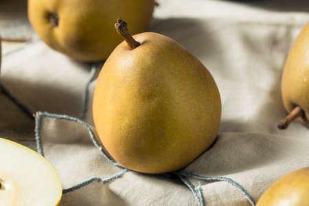 Raw Organic Brown Angelys Pears Ready to Eat Stok Fotoğraf