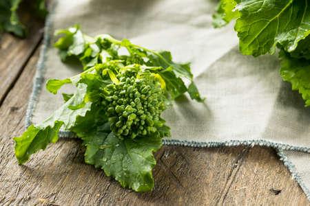 Raw Green Organic Broccoli Rabe Ready to Cook