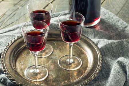 Sweet Port Dessert Wine ready to Drink Stock Photo
