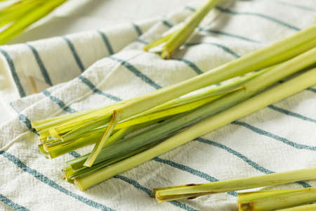 Raw Green Organic Lemongrass Ready to Cook