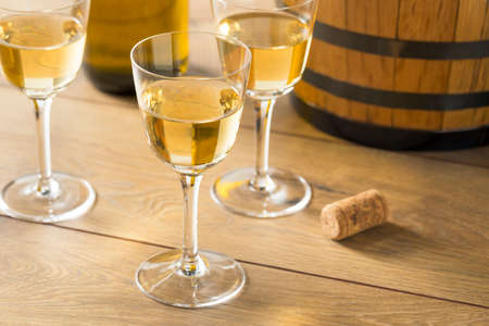 Dry French Sherry Dessert Wine in a Glass Stock Photo