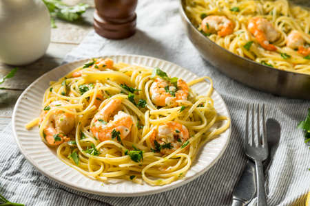 Homemade Lemon Shrimp Scampi with Garlic and Parsley