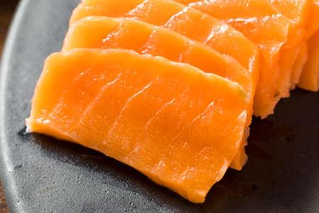 Raw Japanese Salmon Sashimi with Wasabi and Nigiri
