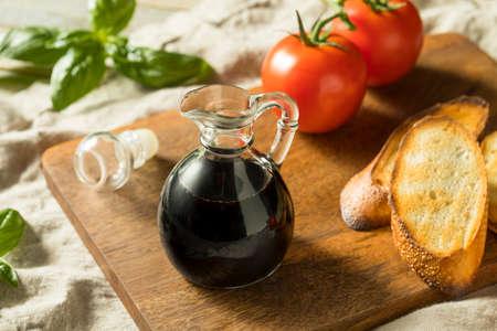Organic Black Balsamic Vinegar in a Bottle