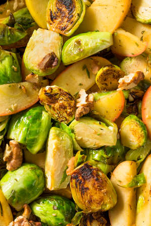 Homemade Brussel Sprout and Apple Salad for the Fall
