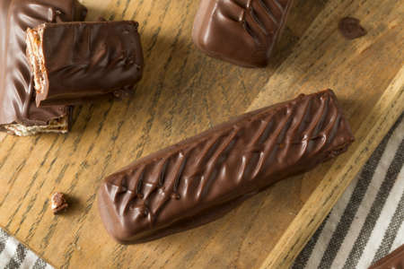 Sweet Homemade Milk Chocolate Candy Bars with Caramel