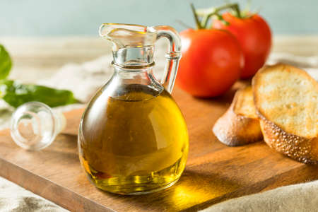 Raw Organic Extra Virgin Olive OIl in a Bottle