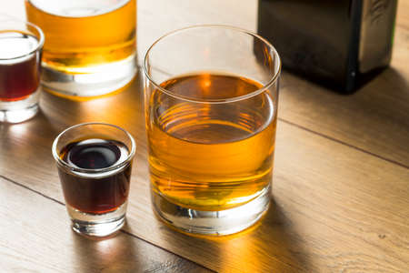 Boozy Bomb Shots with LIquor and Energy Drink Ready to  Mix Stock fotó