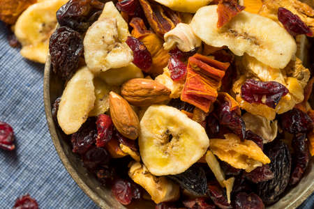Organic Dried Fruit Trail Mix with Cherries and Bananas