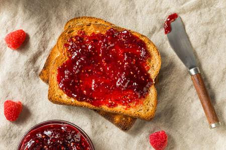 Healthy Homemade Raspberry Jam Preserve Ready to Eat Reklamní fotografie