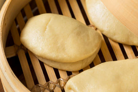 Homemade Steamed Chinese Bao Buns Ready to Eat Reklamní fotografie