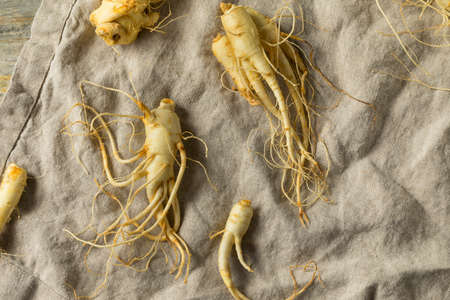Raw Organic Healthy Ginseng Root Ready to Use