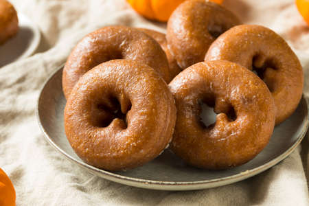 Homemade Pumpkin Spice Donuts Ready to Eat