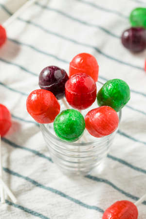 Sweet Homemade Sugar Sucker Candy on a Stick