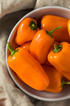 Raw Organic Sweet Orange Peppers