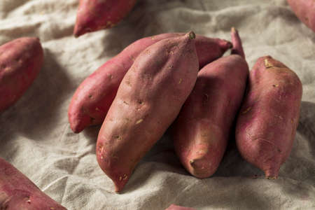 Raw Red Organic Japanese Yams Sweet Potatoes