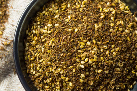 Raw Organic MIddle Eastern Zaatar Spices in a Bowl