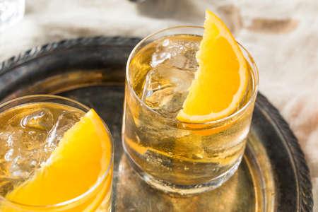 Refreshing White Port and Tonic with Orange Garnish Stock fotó