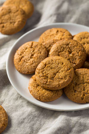 Homemade Ginger Snap Cookies Ready to Eat