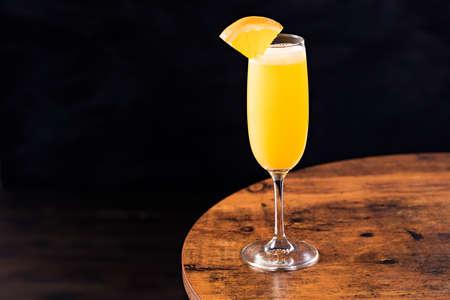Vodka Orange Juice Mimosa Cocktail on a Table