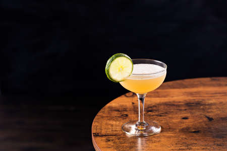 Refreshing Vodka Gimlet Cocktail on a Table