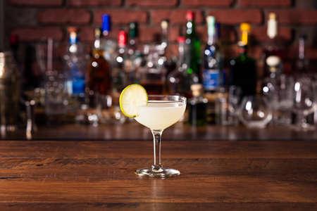 Refreshing Vodka Gimlet Cocktail on a Bar