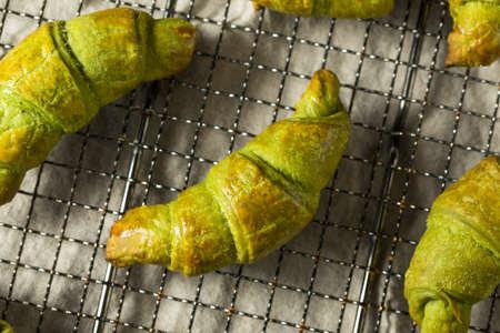 Homemade Green Tea Matcha Croissants Ready to Eat
