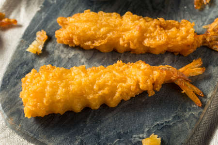 Homemade Deep Fried Shrimp Tempura with Soy Sauce