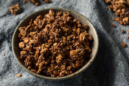 Homemade Chocolate Granola in a Bowl Ready to Eat Reklamní fotografie