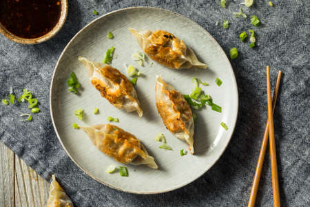 Homemade Korean Mandu Pork Dumplings Ready to Eat