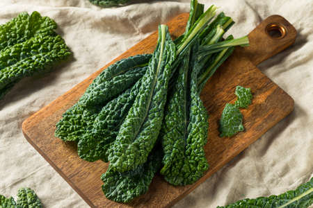 Healthy Organic Green Lacinato Kale Ready to Cook