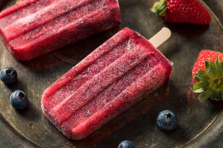Homemade Frozen Kombucha Berry Ice Cream with Strawberries