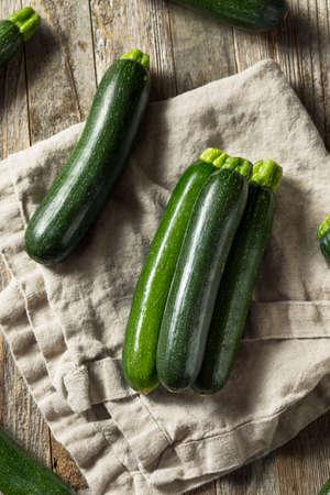 Raw Green Organic Zucchini Squash Ready to Cook