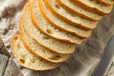 Homemade Sliced Sourdough Bread Ready to Eat Stock Photo