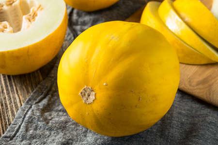 Raw Yellow Organic Canary Melon Ready to Eat