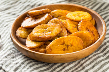 Homemade Yellow Fried Plantains in a Bowl