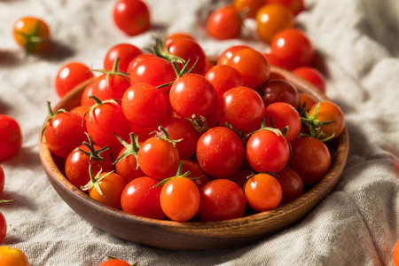 Raw Organic Heirloom Cherry Tomatoes in a Bowl