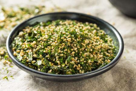 Dry Organic Japanese Furikake Rice Seasoning in a Bowl