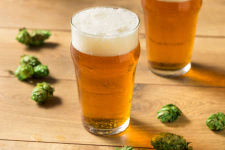 Refreshing Summer IPA Craft Beer with Hops