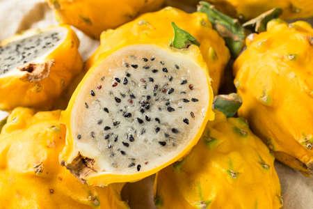 Raw Organic Yellow Dragonfruit Ready to Eat