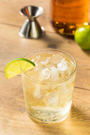 Homemade Rum and Tonic Cocktail with Lime Standard-Bild - 129458283