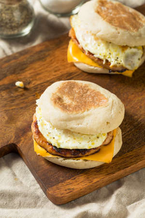 Homemade Pork Roll Egg Sandwich with Cheese