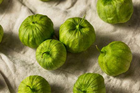 Organic Green Fresh Tomatillos in a Husk