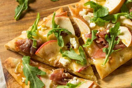 Apple Prosciutto Flatbread Pizza Appetizer with Feta