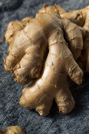Raw Brown Organic Spicy Ginger Root Ready to Cook